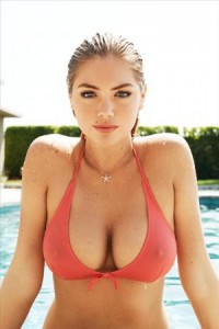 Kate Upton ample cleavage